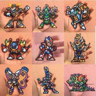 Hama beads design characters from megaman mega man X2
