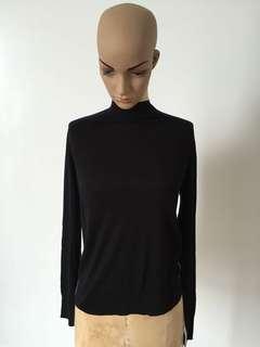 Zara Knitwear White Lined Black Turtleneck Longsleeves