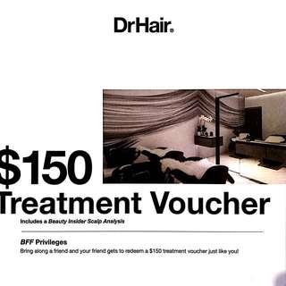 $150 DrHair treatment voucher
