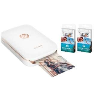 HP Sprocket Pocket Mobile Photo Printer +2 Box PHOTO PAPER