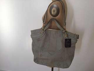 MCM Dove Grey Gray 2 Way Tote Bag