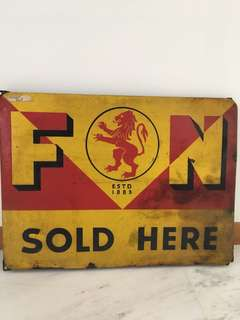 Antique signboard
