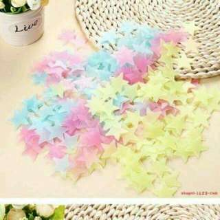 100 pcs Glow in the dark stars
