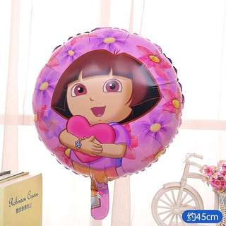 B86 Happy birthday foil balloon Dora