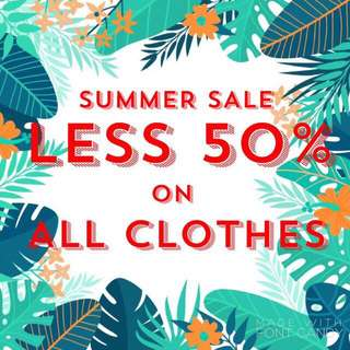 SUMMER SALE!!! -50% on ALL CLOTHES