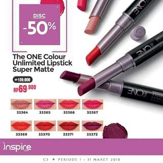 The On Colour Unlimited Lipstick Super Matte Oriflame_ORI