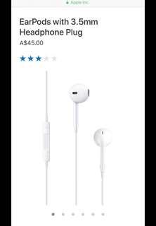 Apple 4/5/6 earpods with 3.5mm headphone plug SALE !!!