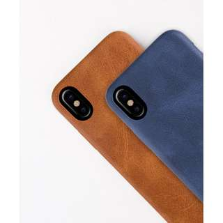 Iphone X Genuine Uniq Outfitter Vintage Leather Back Case