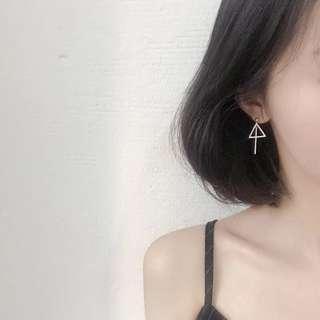 Dark grey earrings