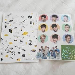 Nature republic EXO notebook + sticker