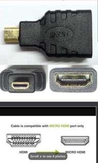 Micro HDMI Male To HDMI Female Adapter,