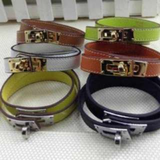 CDC leather bracelet bangle double layer