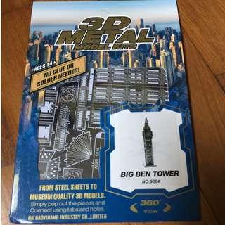 3D Metal Model Kit: Big Ben Tower