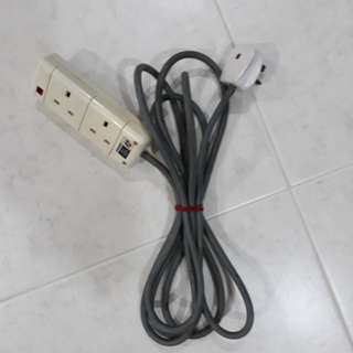 3.5m Twin Sockets Extension Cord