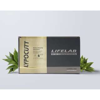 LYPOCUTT by LIFELAB NUTRITION Blocks Fat and Carbs - Reduce Body Fat Absorption