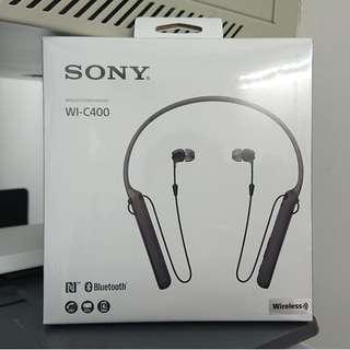 SONY 全新藍芽耳機 WI-C400 Bluetooth headset