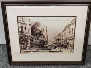 Old Singapore Photo in Frame