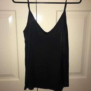 Bardot silk Cami black