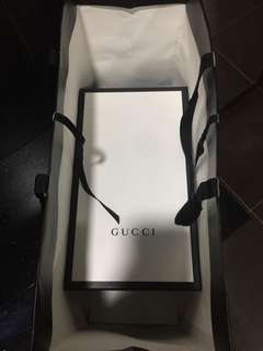 Authentic Gucci Shoes Box n Paperbag