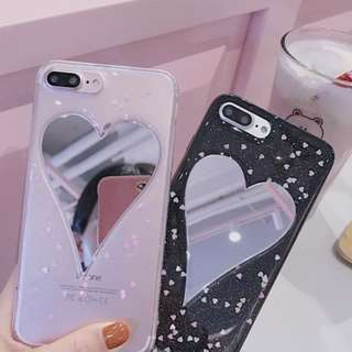 IPhone Mirror Heart Case