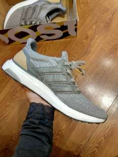 (Best Seller) Adidas Ultra Boost 3.0 Grey Leather Cage
