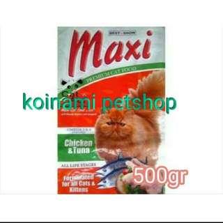 Maxi repack 500 gr / makanan kucing maxi / maxi cat food