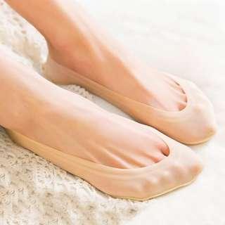 [Buy 3 Get 1 Free] Ladies Ice Silk Foot Cover Socks in Skin Anti Slip 3 Pair Pack at S$ 6.90