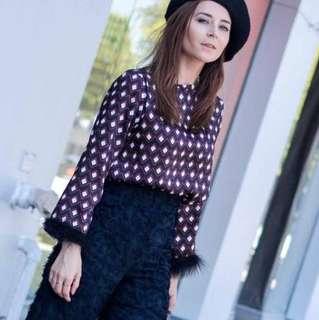 Preloved Zara Top With embellished Detail