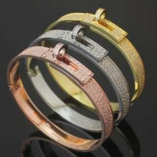 Kelly full diamond bangle bracelet