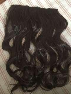 Hair Extensions (DARK BROWN, LONG WAVY)