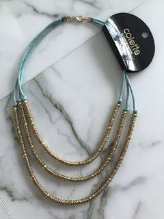 <65% OFF> Gold Tri-bead Turquoise Statement Necklace