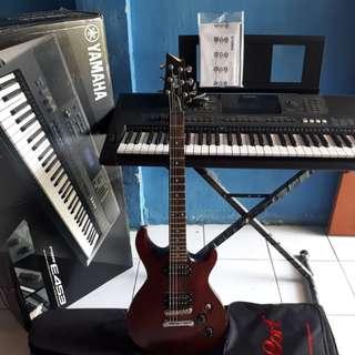 Jual Keyboard Yamaha PSR- E453 ...& Gitar Cort M200