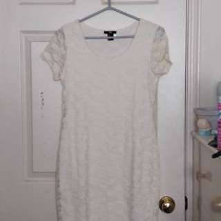 H&M White Lace Dress (size M)