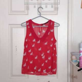 Zara Cat Blouse (size S)