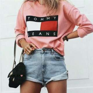 Tommy jeans sweaters pink