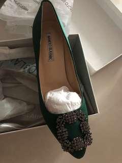 Manolo look alike heels dark green