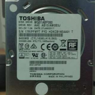 Hardisk Laptop 500GB