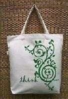 Green Theme Tote Bag