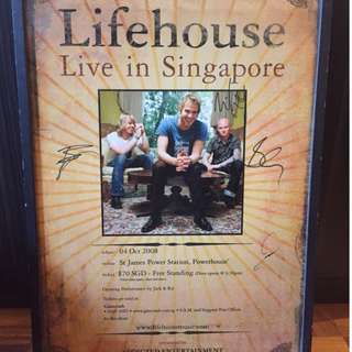 Lifehouse poster signed