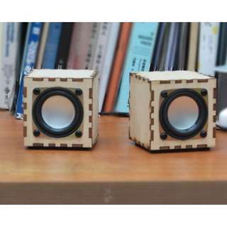 DIY 雷射切割木盒電腦喇叭套件