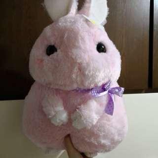 全新日本景品特大粉紅色Amuse兔公仔