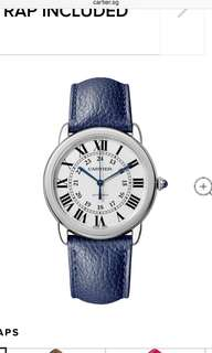 Cartier Ronde Blue Automatic 36mm Watch
