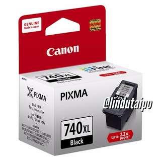 全新行貨- Canon 740XL (黑) 加大裝 原廠墨盒 CL-740XL
