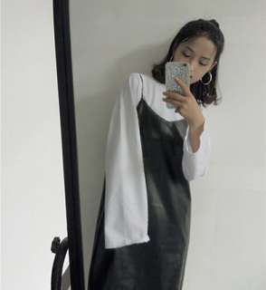 Stylenanda Faux Leather Camisole Dress