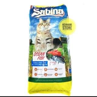Sabina ocean fish repack 1 kg / makanan kucing sabina / cat food
