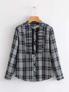 Plaid Long-Sleeved Shirt 13100
