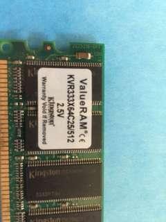 Kingston Value RAM 513 mb 184 pin DDR 333