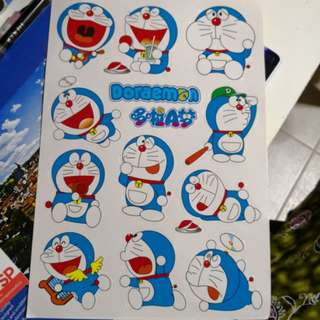 Doraemon Stickers 12 designs