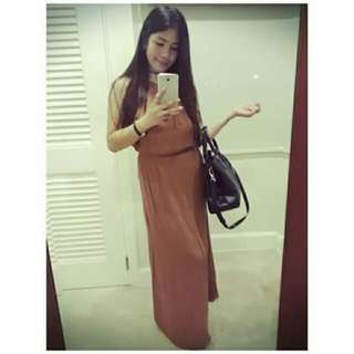 Forever21 Long Dress (Brown)