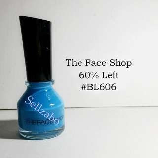 The Face Shop Blue Colour ~ 60% Left Nails Polish Sellzabo #BL606